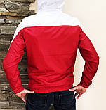 Мужская куртка ветровка Puma 21179 красно-белая, фото 9