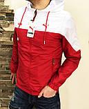 Мужская куртка ветровка Puma 21179 красно-белая, фото 8
