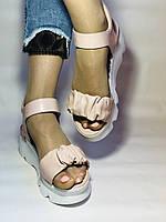 Модные босоножки на платформе.Пудра.  37. 39. Турция, фото 4