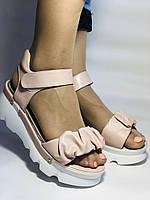 Модные босоножки на платформе.Пудра.  37. 39. Турция, фото 5