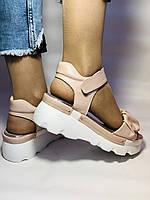 Модные босоножки на платформе.Пудра.  37. 39. Турция, фото 3