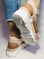 Модные босоножки на платформе.Пудра.  37. 39. Турция, фото 8
