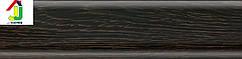 Плинтус пластиковый Salag 40 черное дерево, плинтус с мягкими краями, плинтус напольный с кабель каналом.