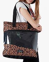 """Женская городская сумка """"training bag large"""" принт леопард, на 24л, водоотталкивающий, повседневная"""