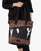 """Женская городская сумка """"training bag large"""" принт леопард, на 19л, водоотталкивающий, повседневная"""