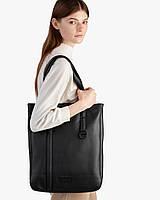 """Женская городская сумка """"office bag"""" чёрная, на 7л, сумка для ноутбука, повседневная, экокожа"""