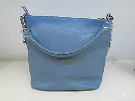 Жіноча шкіряна сумка 4038 блакитна