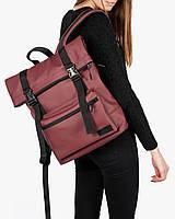 """Женский городской рюкзак """"ROLL 2"""" на 19л,бордо,красный,сумка для ноутбука или планшета,повседневный,спортивный"""