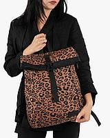 """Стильный женский городской рюкзак """"ROLL MINI"""" на 18л, спортивний, повседневный,сумка для нетбука, коричневый"""