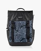 """Прочный мужской рюкзак """"UNIVERSAL MINI"""" принт, черный, на 16л, сумка для ноутбука или планшета, повседневный"""