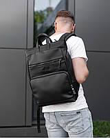 """Прочный мужской рюкзак на 18 """"SOLVER 2"""", городской спортивний для путешествий, сумка для ноутбука, Чёрный"""