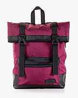 """Прочный мужской рюкзак """"ROLL"""" бордо, на 19л, сумка для ноутбука, спортивный, для путешествий, повседневный"""