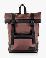 """Прочный мужской рюкзак """"ROLL"""" браун, на 19л, сумка для ноутбука, спортивный, для путешествий, повседневный"""