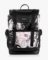 """Женский рюкзак """"UNIVERSAL"""" принт, флорал, черный, на 21л, сумка для ноутбука, повседневный, спортивный"""