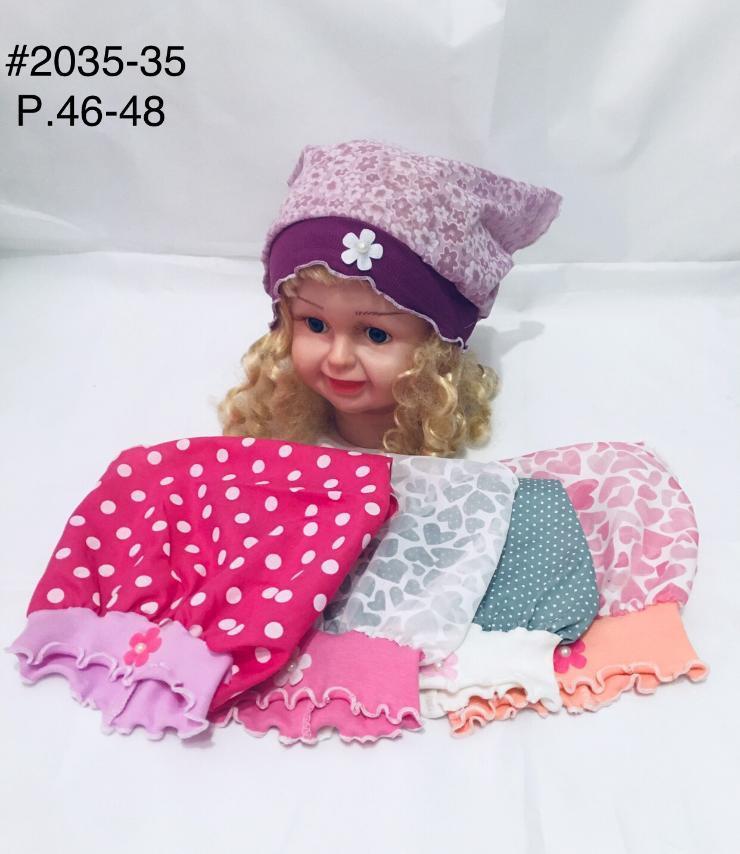 Детская панамка для девочки на лето Цветок р.46-48
