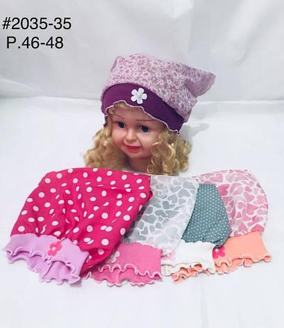 Детская панамка для девочки на лето Цветок р.46-48, фото 2