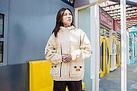 Женская куртка-ветровка Skatepark (Скейтпарк), белая, код FL-134
