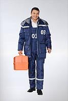 Утепленная одежда для скорой помощи, униформа медицинская, спецодежда медицинская