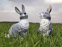 Садовая фигура Зайчиха из зайцем. декоративная фигура.