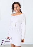 Трикотажное платье с корсетом  В 030/ 02, фото 1