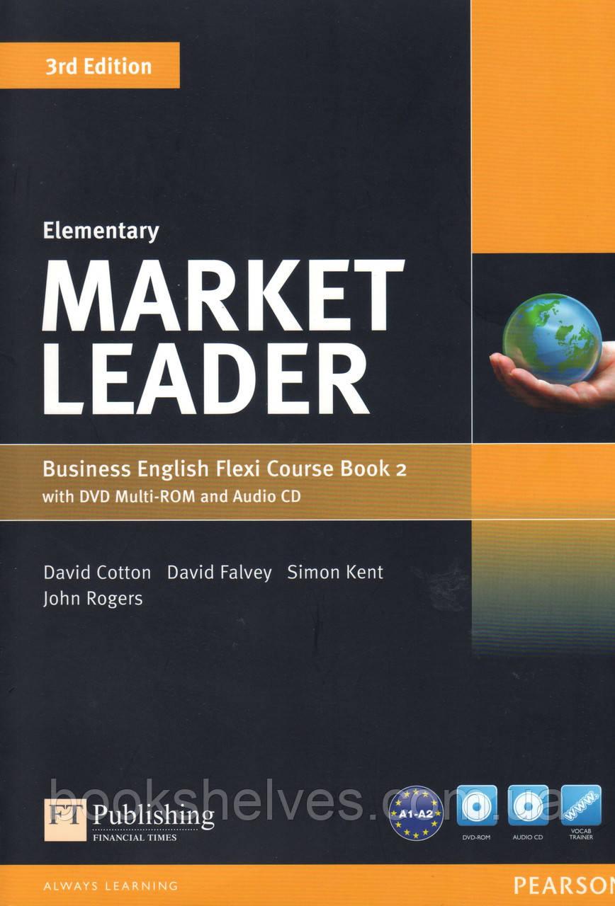 Учебник  Market Leader 3rd Elementary Flexi 2 +DVD+CD Student's book