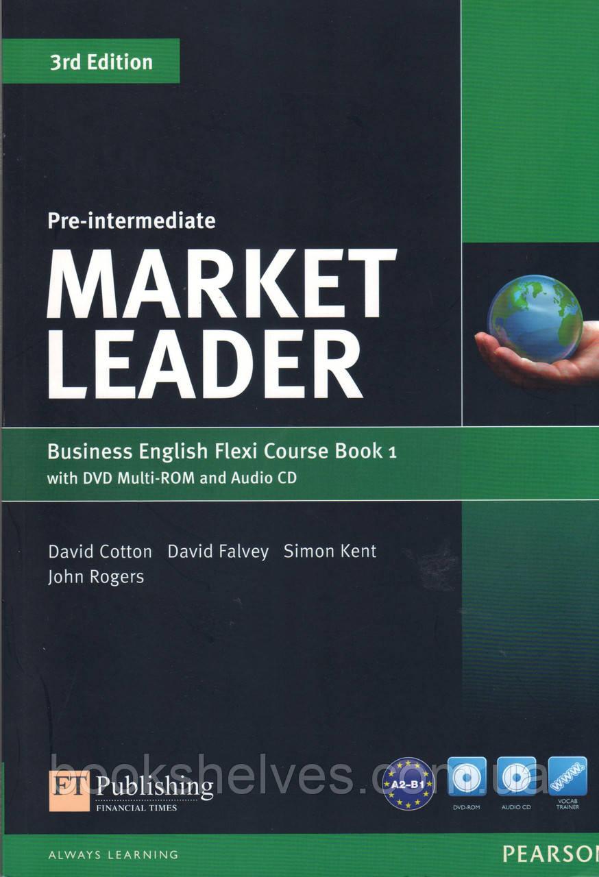 Учебник Market Leader 3rd Pre-Intermediate Flexi 1 +DVD+CD Student's book