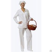 Костюм поварской, униформа поварская, курточка и брюки для повара