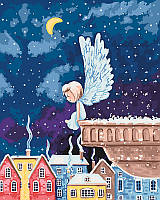Картина раскраска по номерам Ангелочек 2 (КНО2332)