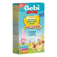 Каша молочная Bebi Premium 4 злака с вишней и бананом, 200 г. с 12 месяцев