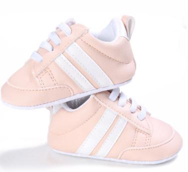 Пінетки-кеди дівчачі білі з рожевим