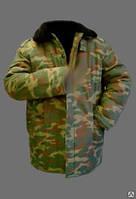 Куртка ватная камуфляжная с меховым воротником (саржа)