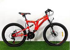 """Горный велосипед 26 дюймов Azimut Blackmount 26"""" BLACK-BLUE, фото 3"""