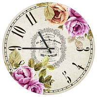 Настенные часы Цветы, круглые 36 см оригинальный подарок прикольный