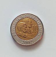 10 писо Филиппины 2002 г., фото 1