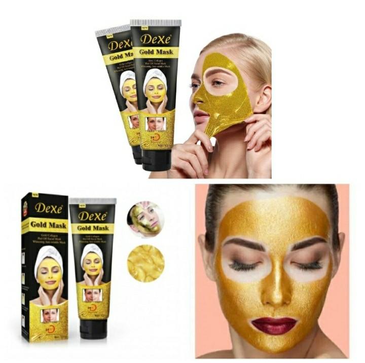 Золотая омолаживающая маска для лица Dexe Gold Mask