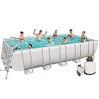 Каркасный бассейн Bestway 56471, 671 х 366 х 132 см (5 678 л/ч, дозатор, лестница, тент, подстилка)
