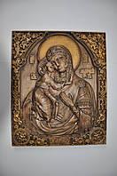 Икона деревянная (Дева Мария с Исусом младенцем), размер 250х300, доставка по Украине