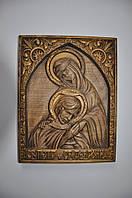 Икона деревянная (Дева Мария с сыном Исусом), размер 250х300, доставка по Украине