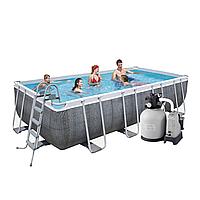 Каркасный бассейн Bestway 56998 - 12, 549 х 274 х 122 см (7 г/ч - 6 000 л/ч, набор, дозатор, лестница, тент)