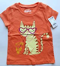 "Футболка для девочки  3 года (рост 93-98 см) ""Кошка""OshKosh / дитяча футболка для дівчинки 3р.(ріст 93-98 см)"