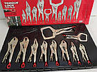 Набор инструментов Milwaukee locking pliers set 10ps 48-22-3690  набор клещей 10 штук, фото 2