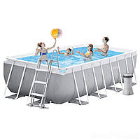 Каркасный бассейн Intex 26792, 488 x 244 x 107 см (3 785 л/ч, лестница, тент, подстилка)