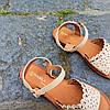 Шльопанці босоніжки на застібці сандалі на плоскій підошві літні руді коричневі, бежеві, фото 5