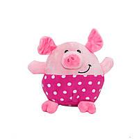 Мягкая игрушка - поросенок розовые штанишки, 11 см, розовый, полиэстер (M1717111-2)