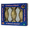 Набор елочных игрушек-конфет 35/100*3 шт., стекло, золото, присыпка (390151-13), фото 2