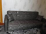 Перетяжка гарнитура с темной тканью., фото 2