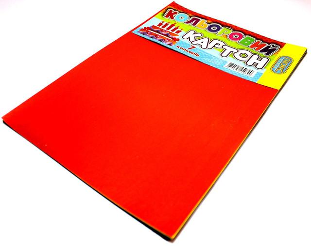 Картон цветной А4 ЛЮКС-КОЛОР (7 цветов) для детского творчества