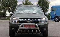 Кенгурятник (передняя защита) Renault Duster (с надписью)