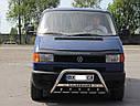 Кенгурятник с лого (защита переднего бампера) Volkswagen T4 (Transporter) 1990-2003, фото 2