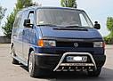 Кенгурятник с лого (защита переднего бампера) Volkswagen T4 (Transporter) 1990-2003, фото 3